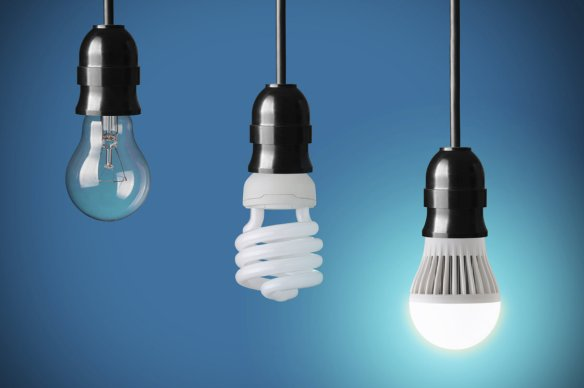 (From left) Incandescent, CFL and LED light bulbs. Many people are finding that choosing the right light bulb has a steep learning curve.